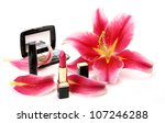 decorative cosmetics and petals ... | Shutterstock . vector #107246288