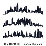 black city skyline isolated in...