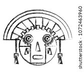 grunge aztec indigenous... | Shutterstock .eps vector #1072463960