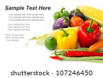 fresh mixed vegetables isolated ... | Shutterstock . vector #107246450