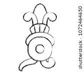 grunge indigenous xochitl... | Shutterstock .eps vector #1072464650
