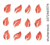 artistic collection of red...   Shutterstock .eps vector #1072465574