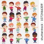 cartoon character boys and... | Shutterstock .eps vector #1072466309
