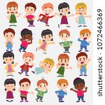 cartoon character boys and... | Shutterstock .eps vector #1072466369