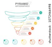 pyramid infographics. funnel... | Shutterstock .eps vector #1072466498