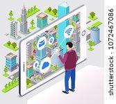 smart city vector illustration. ... | Shutterstock .eps vector #1072467086
