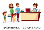 people at checkout counter... | Shutterstock .eps vector #1072467140