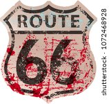 grungy route sixty six road... | Shutterstock .eps vector #1072468928