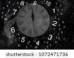 numerology world and space clock | Shutterstock . vector #1072471736