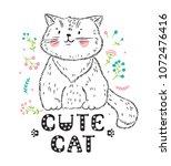 t shirt print scandinavian... | Shutterstock .eps vector #1072476416