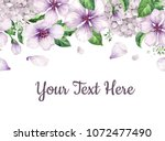 floral background  apple tree...   Shutterstock .eps vector #1072477490