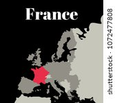 france map. europe. vector...   Shutterstock .eps vector #1072477808