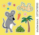 mouse cartoon illustration  ...   Shutterstock .eps vector #1072478900