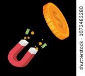 dollars magnet. abstract magnet ...   Shutterstock .eps vector #1072483280