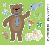 bear cartoon illustration  ...   Shutterstock .eps vector #1072484444