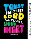 trust in the lord. modern... | Shutterstock .eps vector #1072484903