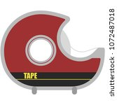 tape dispenser illustration  ... | Shutterstock .eps vector #1072487018