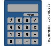 basic calculator illustration   ...   Shutterstock .eps vector #1072487978