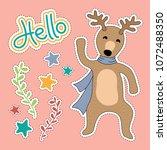 deer cartoon illustration  ...   Shutterstock .eps vector #1072488350
