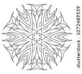 simple mandalas for beginners ... | Shutterstock . vector #1072489559