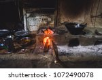 traditional natural clay oven... | Shutterstock . vector #1072490078