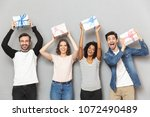 image of excited group of... | Shutterstock . vector #1072490489