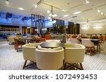 restaurant interior in luxury... | Shutterstock . vector #1072493453