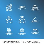 virtual reality icon set and...