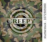 creepy on camo texture | Shutterstock .eps vector #1072505000