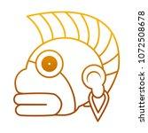 degraded line indigenous... | Shutterstock .eps vector #1072508678