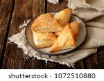 burekas filled with cheese | Shutterstock . vector #1072510880
