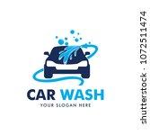 car wash logo design vector | Shutterstock .eps vector #1072511474