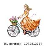 Beautiful Girl In A Dress Ride...