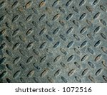 black worn diamond plate | Shutterstock . vector #1072516