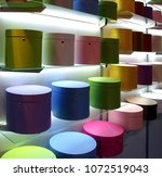 multicolored hat boxes for...   Shutterstock . vector #1072519043