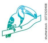 degraded line beauty toucan...   Shutterstock .eps vector #1072520408