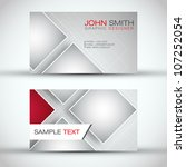 modern business   card set  ... | Shutterstock .eps vector #107252054