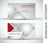 modern business   card set  ... | Shutterstock .eps vector #107252054