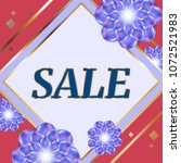 sale banner with colorful... | Shutterstock .eps vector #1072521983