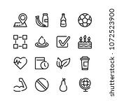 beer bottle icon with health... | Shutterstock . vector #1072523900
