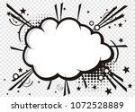 blank text comic black speech... | Shutterstock .eps vector #1072528889