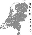 netherlands map vector outline... | Shutterstock .eps vector #1072529984