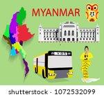 myanmar  random set of vector...   Shutterstock .eps vector #1072532099