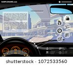 automobile service website... | Shutterstock .eps vector #1072533560