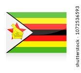 zimbabwe flag vector icon  ... | Shutterstock .eps vector #1072536593