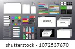 set of search bar vector... | Shutterstock .eps vector #1072537670