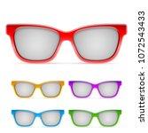 color framed sunglasses | Shutterstock . vector #1072543433