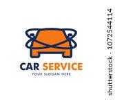 car service logo design vector | Shutterstock .eps vector #1072544114