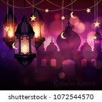ramadan kareem  greeting... | Shutterstock .eps vector #1072544570
