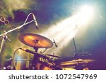 drum on stage.live music and...   Shutterstock . vector #1072547969